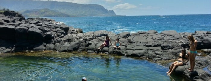 Queens Bath is one of Kauai.