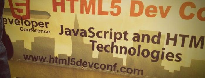 HTML5 Dev Conf is one of Lieux sauvegardés par Sabrina.