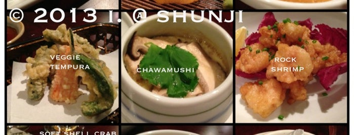 Shunji Japanese Cuisine is one of Los Angeles 2013 Tom Jones.