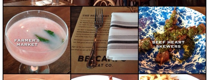 Belcampo Meat Co. is one of Dinner to try.
