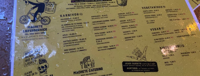 Machete Burrito is one of Mexican food.