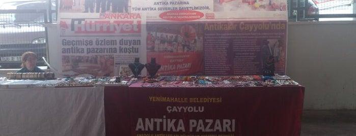 Çayyolu Antika Pazarı is one of สถานที่ที่บันทึกไว้ของ Tuğçe.