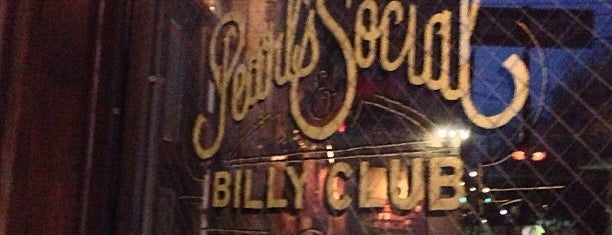 Pearl's Social & Billy Club is one of NYC.