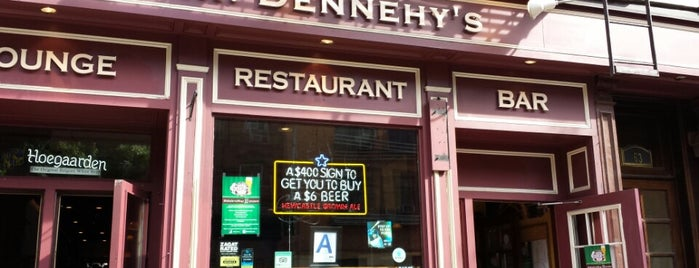 Mr. Dennehy's is one of Places where I got a four square special.