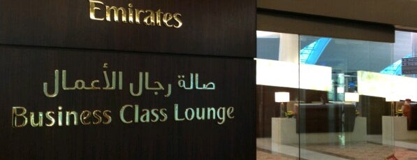 Emirates Business Class Lounge is one of Locais curtidos por Gustavo.