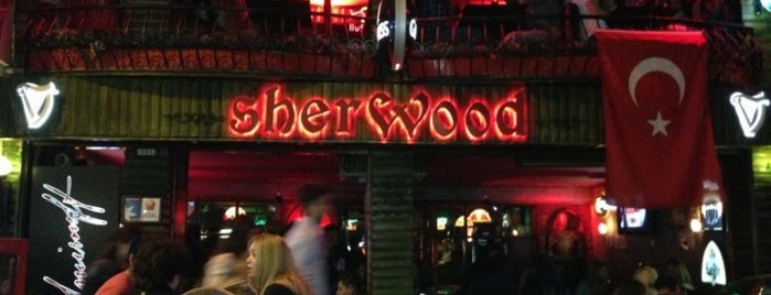 Sherwood Pub is one of Bar-Club-Beach Club.