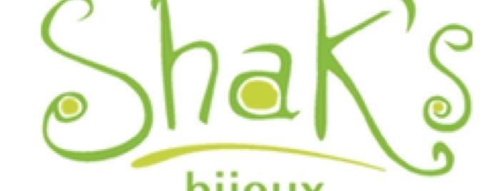Shak's Bijoux is one of Lugares favoritos de Sara Cristina.