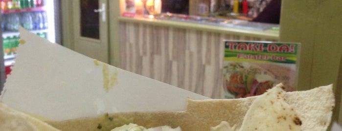 Taki-DA falafel-bar is one of Galinaさんの保存済みスポット.