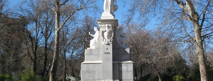 Fuente Monumento a Cuba is one of Ruta Colorea Madrid para conocer el Retiro.