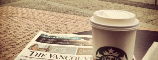 Starbucks is one of Cafes in Vancouver.