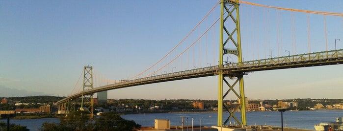 Angus L Macdonald Bridge is one of Halifax.