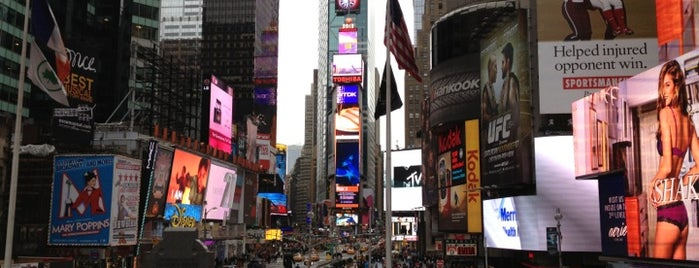 Times Square is one of NYC Basic List.