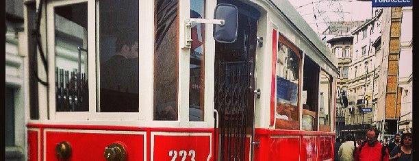 Taksim - Tünel Nostaljik Tramvayı (T2) is one of IST.