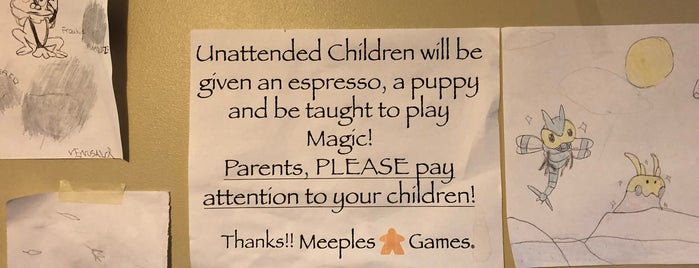 Meeples Games is one of Board Game Cafes.