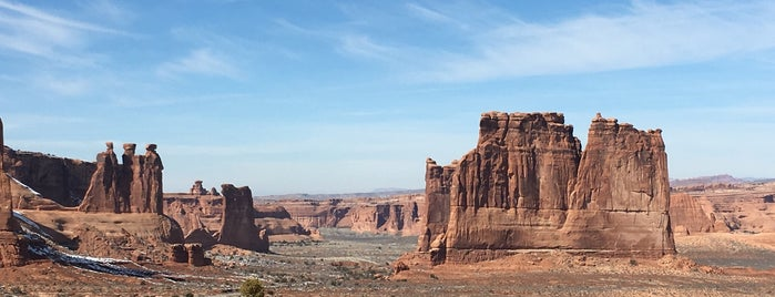 La Sal Mountains Viewpoint is one of Arches Nat'l.