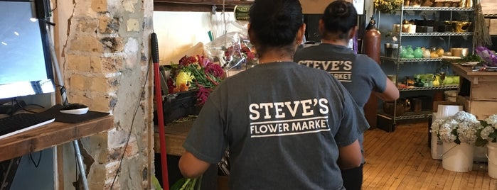 Steves Flower market is one of Chicago.