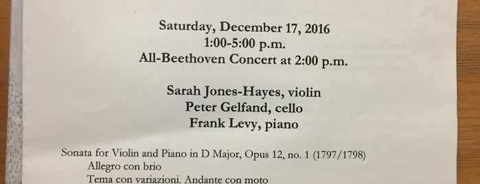 Center for Beethoven Studies is one of SF Bay Area - been there I.