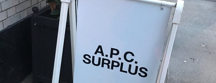 A.P.C. Surplus is one of NYC Threads, SoHo / LES Edition.