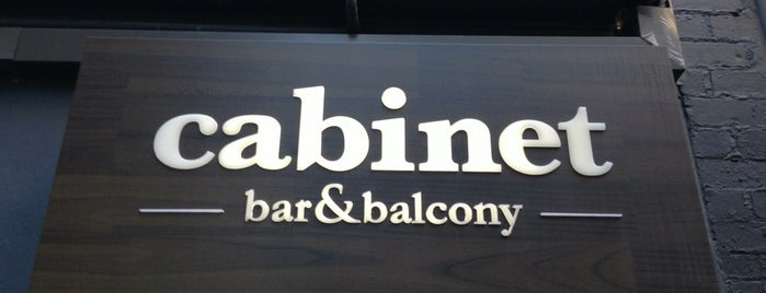 Cabinet Bar & Balcony is one of ace little nooks.....