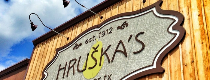 Hruška's is one of Texas Monthly 50 Greatest Hamburgers in Texas.