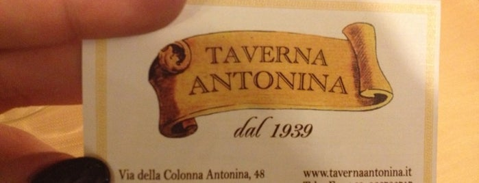 Taverna Antonina is one of Roma To Do.