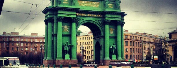 Narva Triumphal Arch is one of St. Petersburg best places.