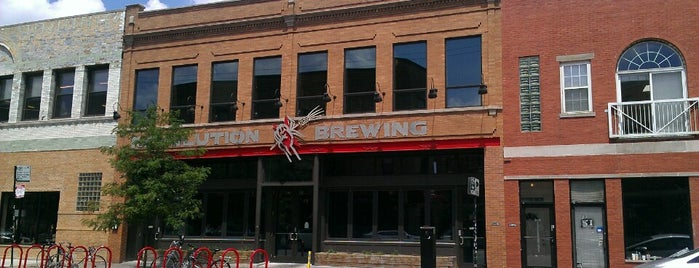 Revolution Brewing is one of Chicago area breweries.