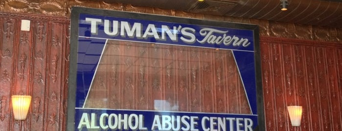 Tuman's Tap & Grill is one of Chicago Magazine's 100 Best bars 2013.