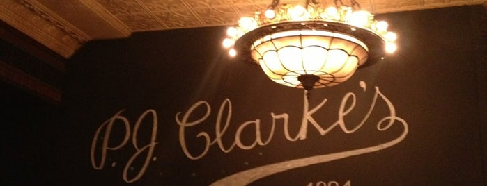 P.J. Clarke's is one of yummy.