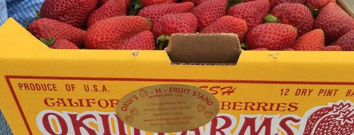 Okui Strawberry Stand is one of Santa Cruz to SLO.