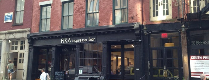 FIKA Espresso Bar is one of FiDi.