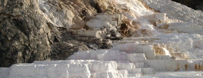 Mammoth Hot Springs is one of CBS Sunday Morning.