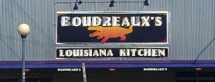 Boudreaux's Louisiana Kitchen is one of Locais salvos de Joshua.