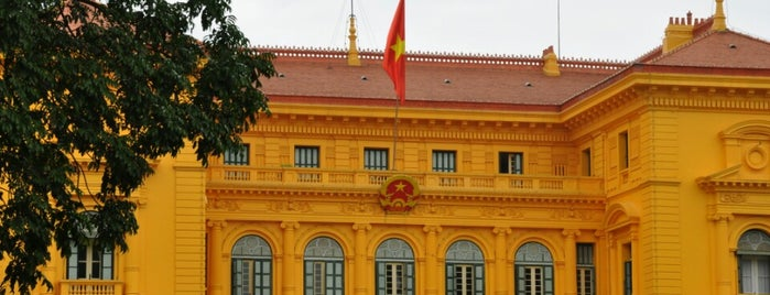 Phủ Chủ Tịch (Presidential Palace) is one of The National Palace.