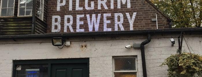 Pilgrim Brewery is one of Locais curtidos por Carl.
