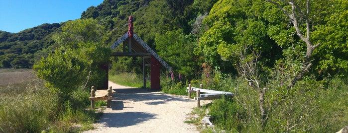 Wainui Bay Abel Tasman Coast Track end is one of Posti che sono piaciuti a Ben.