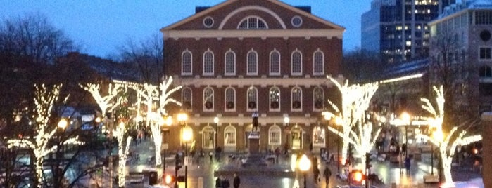 Faneuil Hall Marketplace is one of Boston 2020.