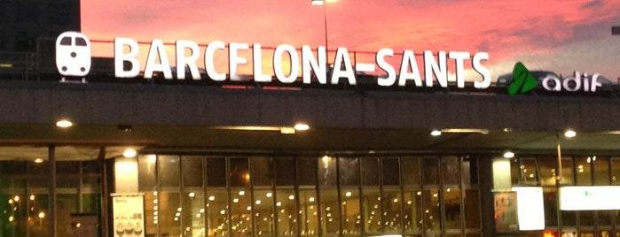 Estación de Barcelona Sants is one of Barcelona.