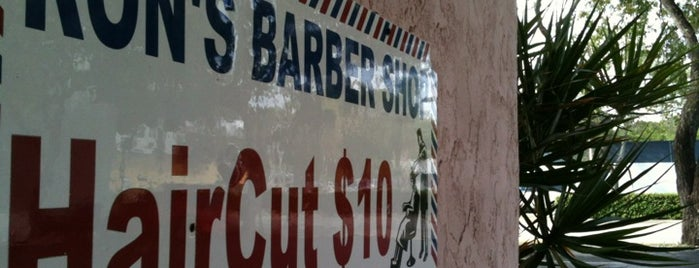 Ron's Barber Shop is one of Locais curtidos por Amaury.