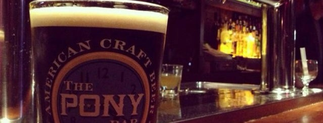 The Pony Bar is one of NYC Good Beer Passport (2014).