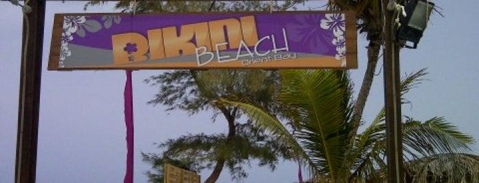 Bikini Beach is one of sint maarten.