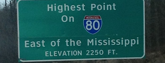 Highest Point East of the Mississippi on I-80 is one of OUT OF TTTTOWN.