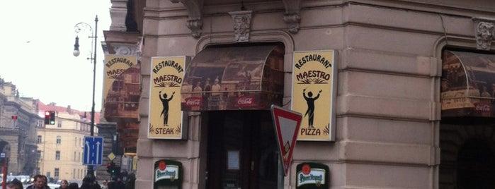 Maestro Steak & Pizza is one of Best restaurants in Prague.