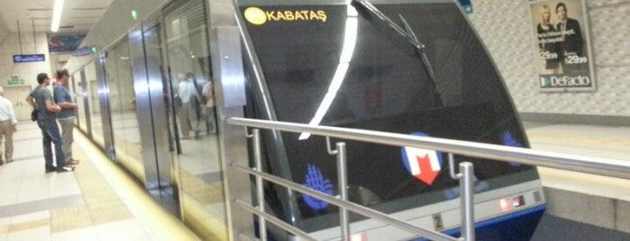 Taksim Füniküler İstasyonu is one of F1 - (Taksim-Kabataş Füniküler Hattı).
