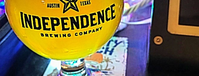 Independence Brewing Co. is one of Austin Recs.