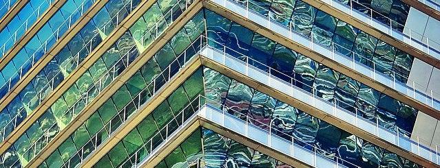 Torre Mapfre is one of Spain. Barcelona.