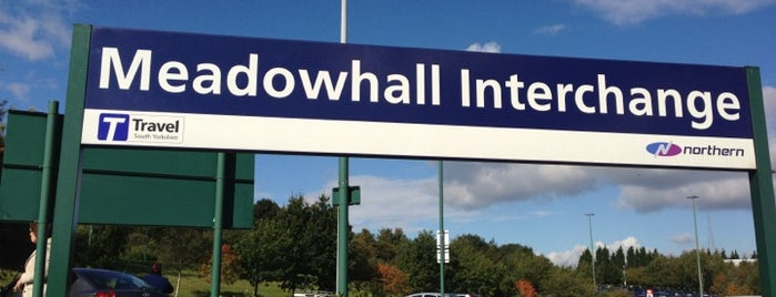 Meadowhall Interchange (MHS) is one of Rotherham/Sheffield.