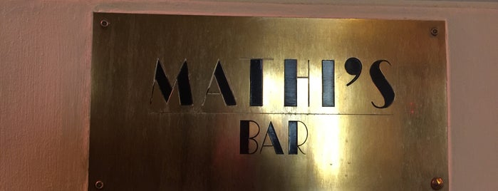 Mathis Bar is one of Must-visit Restaurants in Paris.