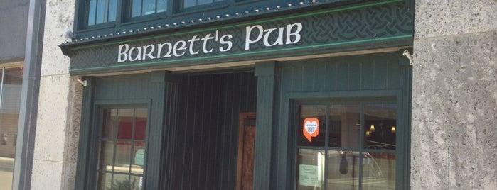 Barnett's Irish Pub is one of Waco Texas.