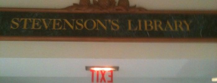 Stevenson's Library is one of Lugares guardados de Bob.